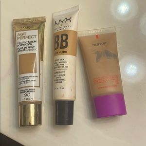 Used 80 % full foundations /bb creams